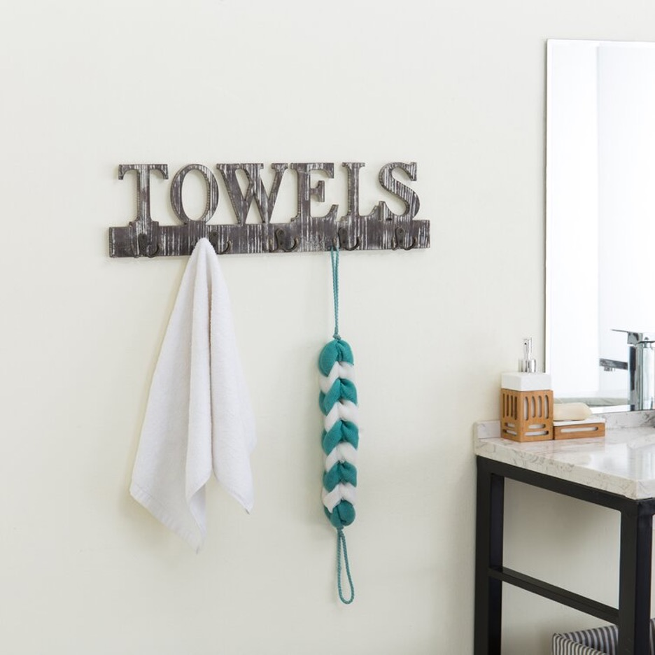 Make a Statement with a Towel Sign Hanger
