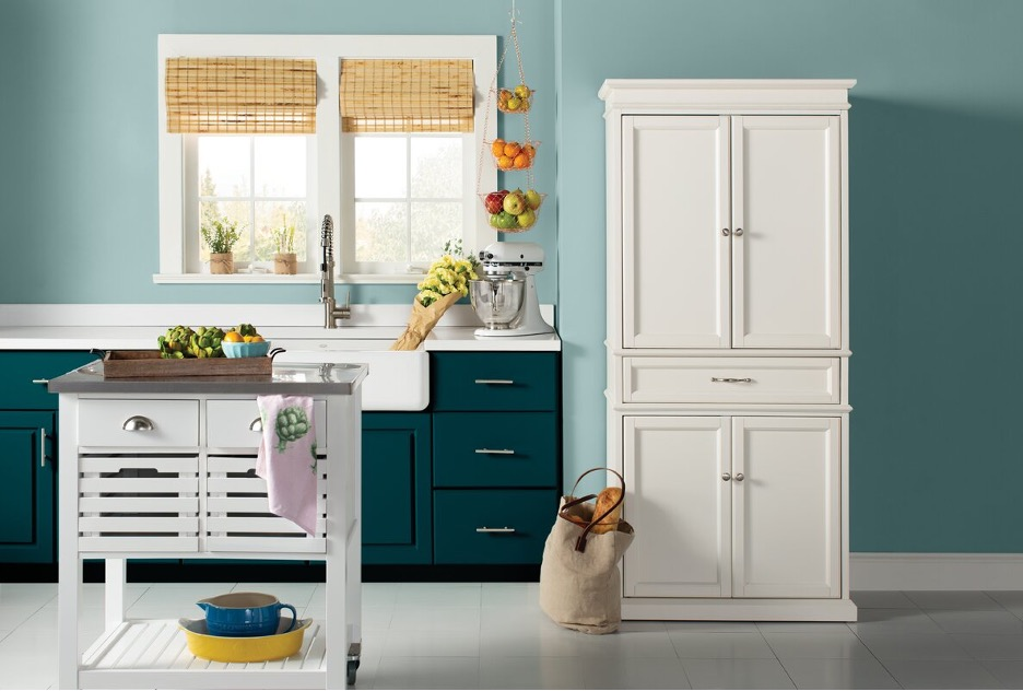 Store Your Kitchen Essentials in a Tall, White Pantry