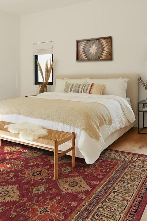 Cambria Patterned Ruby Rug