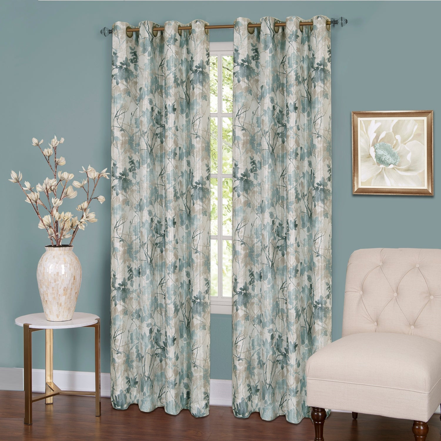 Don't Shy Away From a Floral Curtain