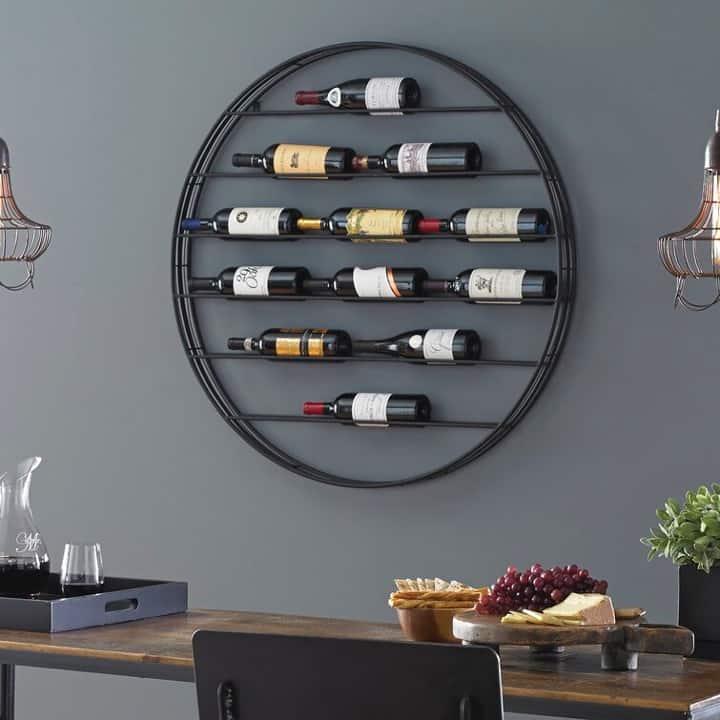 Install a Circular Wine Bottle Rack