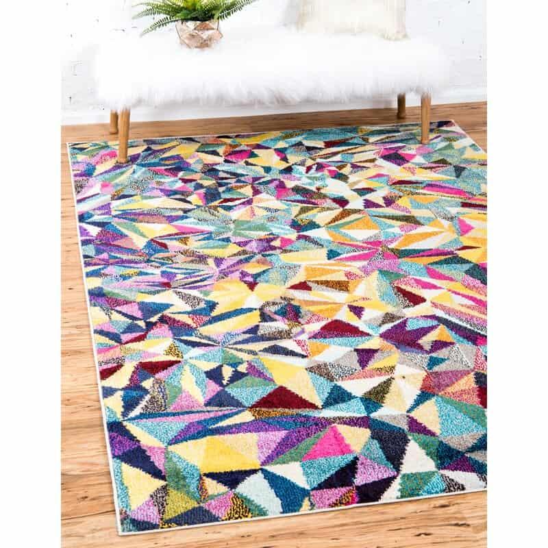 Multi Triangle Mosaic Area Rug