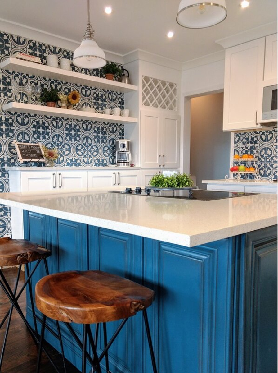 Deck the Walls with Blue and White Porcelain Tiles