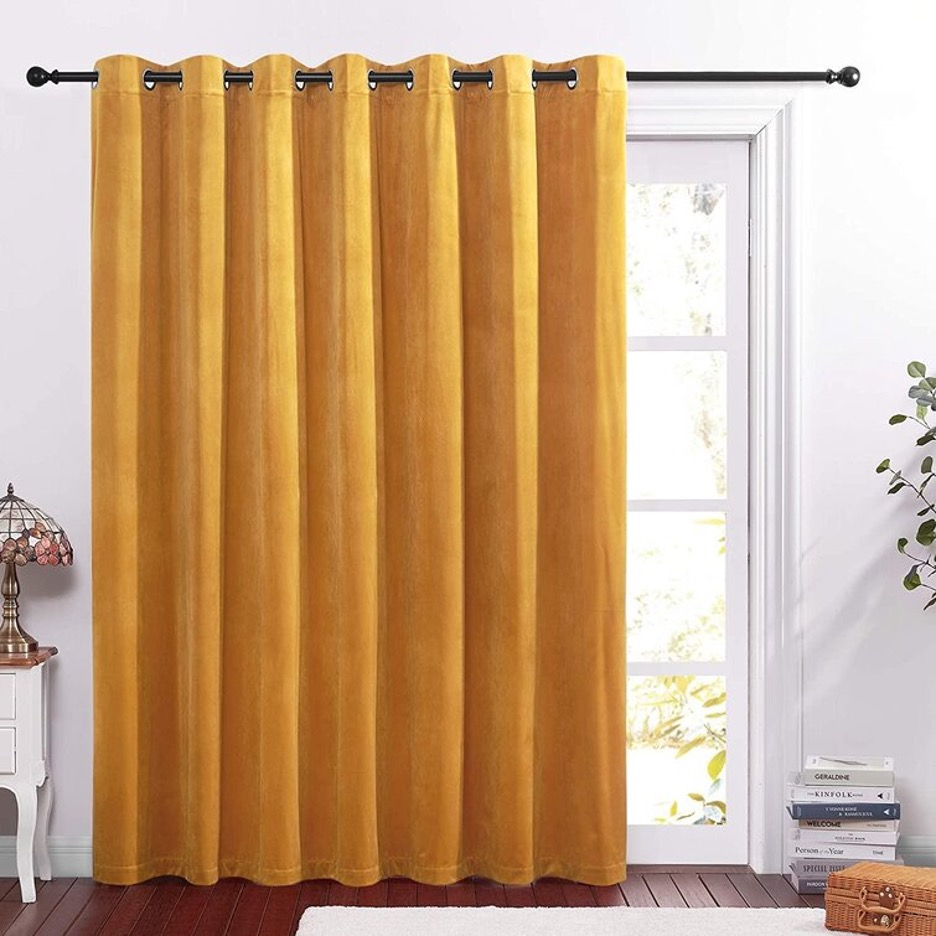 Go for Gold with Bright Velvet Curtains