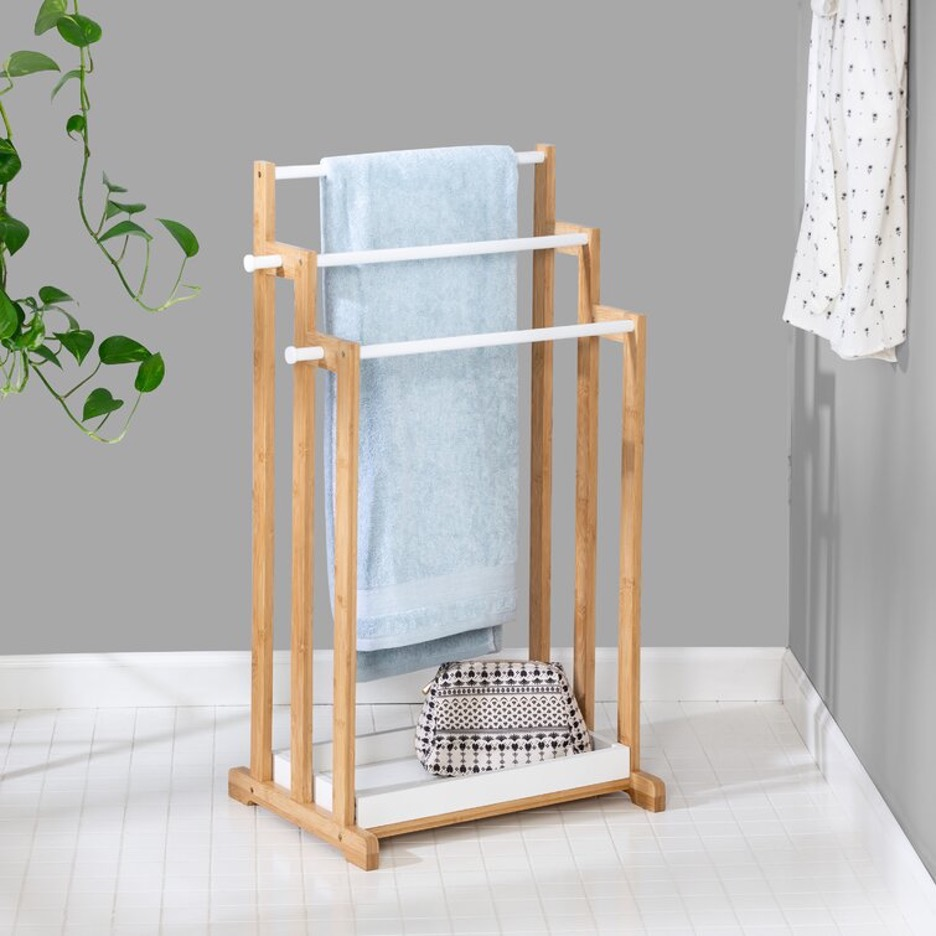 Go for a Standing Bamboo Towel Rack