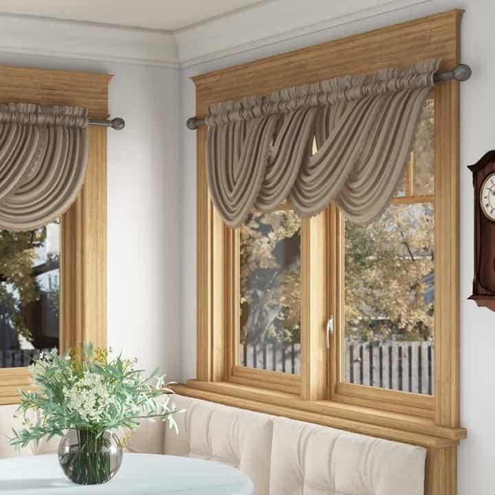 Introduce Window Valances with A Scalloped Hem