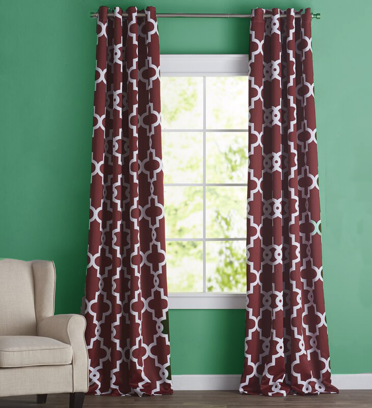 This Burgundy Colored Print Is a Bold Pick for Green Walls