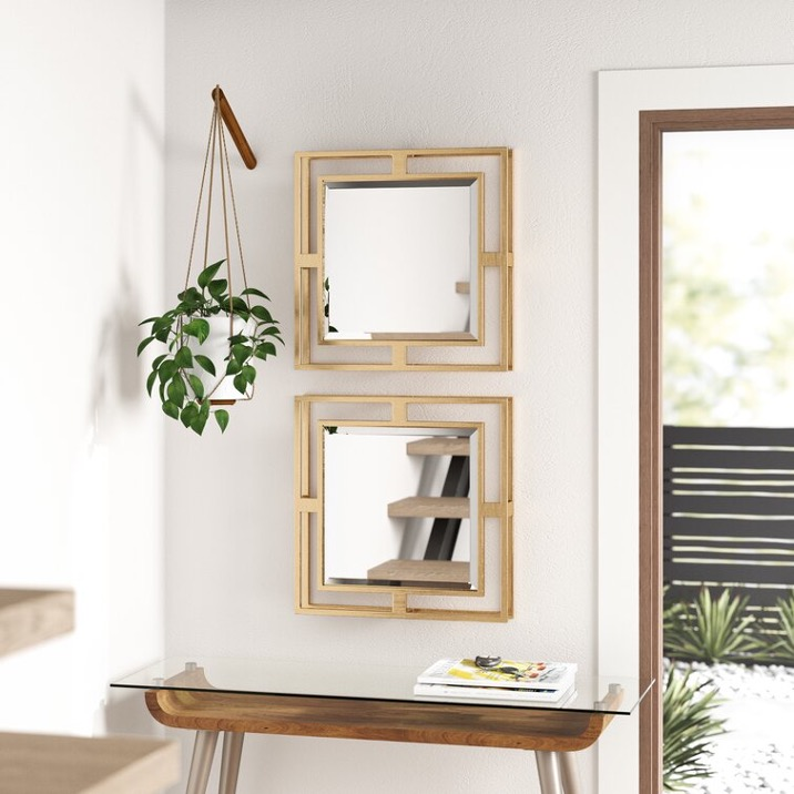 Install Multiple Small Mirrors for a Depth Effect
