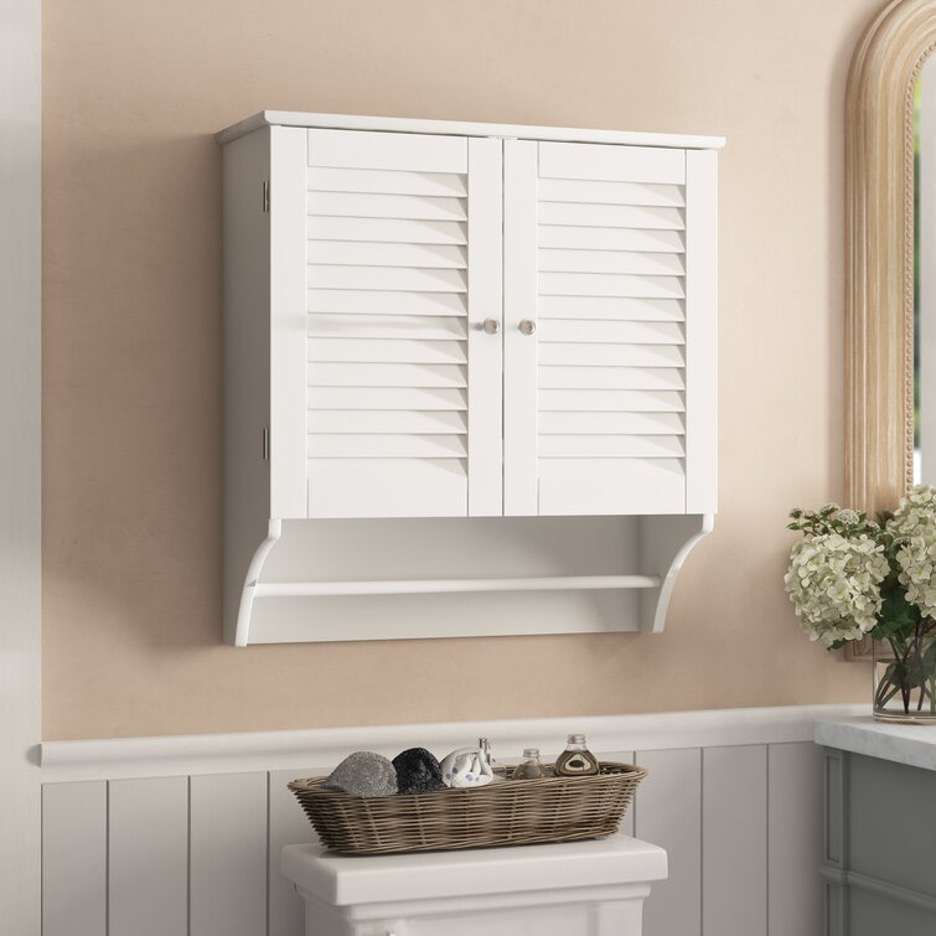 Install a Double-Door Wall Mounted Cabinet (with Over Toilet Towel Rack!)