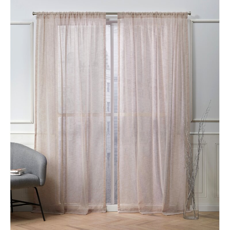 Let in the Light with Sheer Textured Curtain Panels