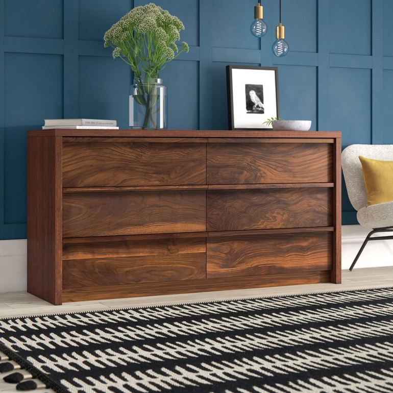 Posner Double Dresser with 6 Drawers