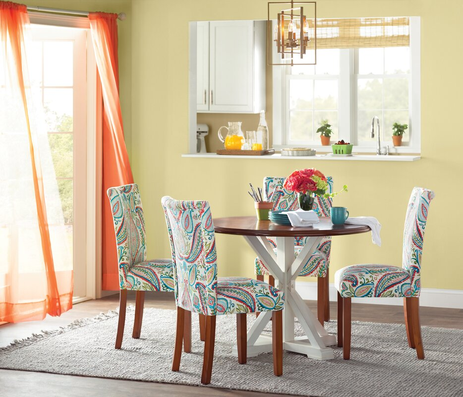 Tangerine Curtains Are Perfect for a Warm Yellow Kitchen
