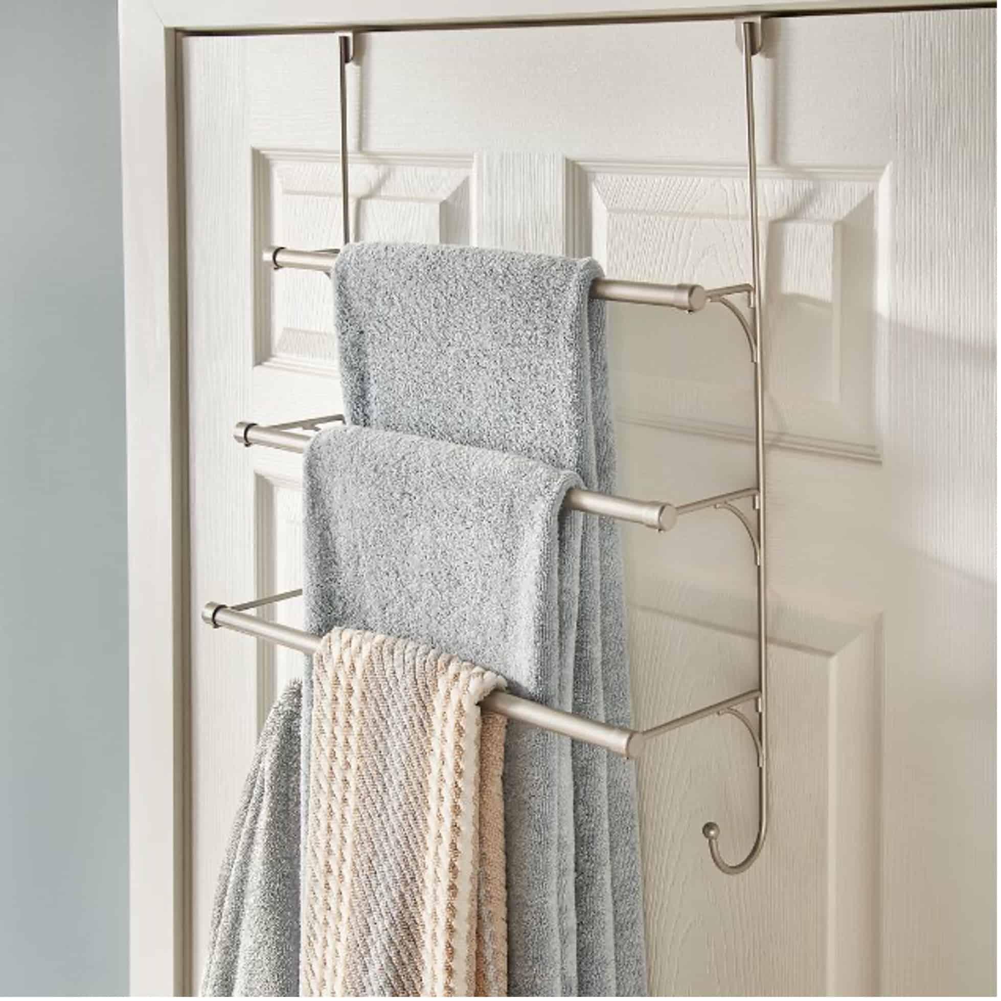 Hang a Towel Rack Over the Door