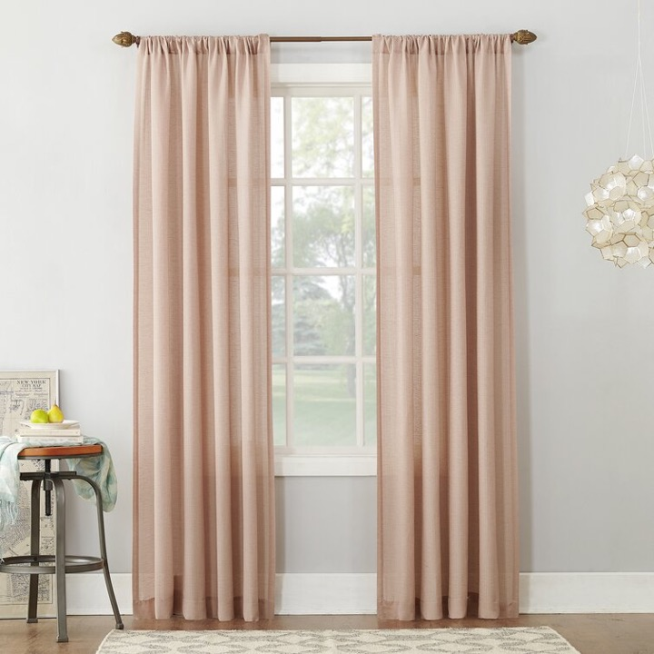 Partially Filter Out Light with Semi-Sheer Silk Curtains